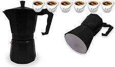 Espresso Stove Top Coffee Maker Continental Moka Percolator Pot 6 Cup Black