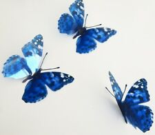 3D Butterfly Blue spotted wall stickers, handmade natural looking butterflies