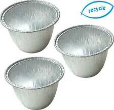 INDIVIDUAL MINI PUDDING BASINS, FOIL STEAM PUD DISHES ROUND CHRISTMAS XMAS PUDS