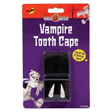 HALLOWEEN FANCY DRESS FRIGHT FANGS TOOTH CAPS DRACULA TEETH TRICK OR TREAT