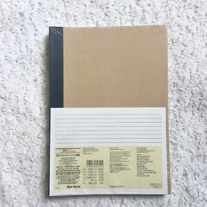 MUJI Notebook B5 - 5 Pack Book Set - 6 mm ruled 30 Sheets 5 Color Set - NEW