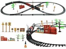 Elektrische Eisenbahn, Lokomotive, Zug-Modell, Lok mit Bahnhof und Schienen