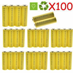 10-100 X 1.2V 2800mAh Nicd Rechargeable Batteries For LED RC Toys mp3 Home Phone