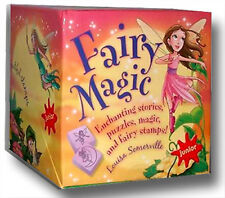 NEW FAIRY MAGIC BOX Junior - Storybook Fairy Dust & Pouch Stamps Inkpad Puzzle