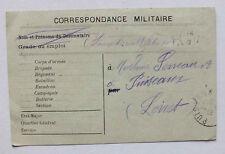 CARTE POSTALE - CORRESPONDANCE MILITAIRE - WW1 - 1915 ? *