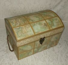 Punch Studio World Maps Explore Adventure Gift Box Chest Trunk NEW FREE SHIPPING
