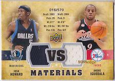 2009-10 UPPER DECK VS DUAL MATERIALS: JOSH HOWARD/ANDRE IGUODALA #/570 GAME-USED