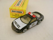 1993 MATCHBOX SUPERFAST MB 59 CHEVY CAMARO POLICE PURSUIT CAR NEW IN BOX