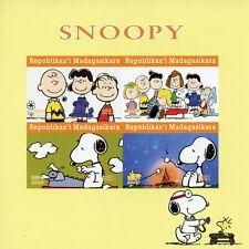 More details for madagascar snoopy stamps 2021 mnh peanuts charlie brown cartoons 4v impf m/s