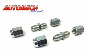 """Automech Brake Pipe Joiner Kit 3/8""""UNF for 3/16"""" Pipe(PAIR),Plated Finish 04/07"""