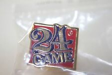 24 card game lapel pin