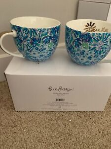Lilly Pulitzer Ceramic Mugs (Set of 2) New in Box