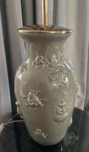 Vasenlampe celadongrün 79cm hoch chinesisch