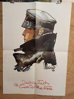 Affiche Corto Maltese Hugo Pratt Poster 49x70 cm pliée en 4
