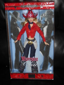 2001 Western Chic Barbie New In The Box