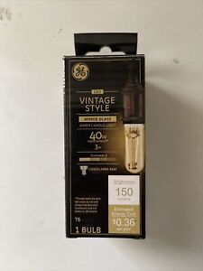 GE Vintage Style LED Amber Warm Candle Light 40w Replacement 3w 1 Bulb