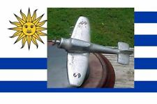URUGUAY AIR FORCE ACADEMY TRENCH ART 50 cal. FIGHTER PLANE GUN UNIQUE