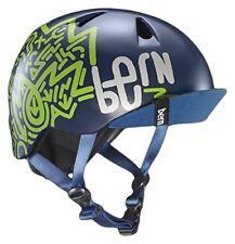 Bern Nino Cycling Helmet (Navy Blue ZigZag / Junior's / (51-55cm) S/M Size)