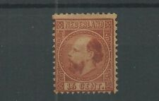 Nederland 9 Willem III  15ct  MH/ongebr   CV 1210 €