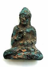 Old Thai Amulet Thailand Buddha Statue Real Aisa Antique Bronze, Very rare