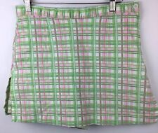 AW GOLF SKORTS by Allyson Whitmore Stretch Green Pink Plaid Shorts Sz 12P
