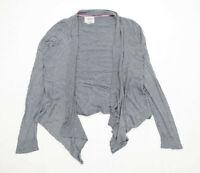 Mistral Womens Size 18 Grey Waterfall Cardigan (Regular)
