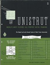 MRO Brochure - Unistrut - Metal Frame Construction System - 1952 (MR207)
