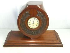 WW1- WW2 Trench Art Airplane Propeller Hub Carved Wood Clock Antique Aircraft