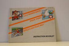 Super Mario Bros-Track & Field-Duck Hunt-Orange NES Video Game Manual Nintendo