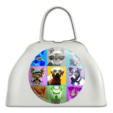 American Fido Dogs Sunglasses Rainbow Retro Vintage Cowbell Cow Bell Instrument