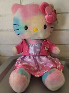 Water Color Hello Kitty Build A Bear Plush With Ombre Bow Dress
