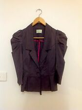 REVIEW Puffed Sleeve Fitted Jacket - Size 6