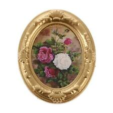 1:12 Scale Metal Framed Flower Picture Photo Painting Dollhouse Miniature