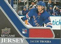 2020-21 UD Series 1 Game Jersey Relic #GJ-JT Jacob Trouba New York Rangers