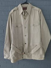 VTG Willis & Geiger Safari Jacket Bush Poplin Australian 340 Khaki Belt 40L M