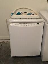 "Ge 24"" White Fully Integrated Dishwasher."