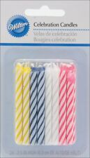 Wilton Birthday Candles, 2.5-Inch, Assorted Striped Spirals, 24-Pack