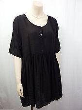 Damenblusen,-Tops & -Shirts im Tuniken-Stil mit Kurzarm-Ärmelart ohne Kragen für Freizeit