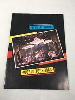 "Vintage 1983 Men At Work World Tour Program Book 13""x 9.5"" 18 Page Glossy"