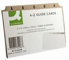 "A-Z Guide Cards Set 6x4"" (152x102mm) - Buff Index Box Dividers Address Business"