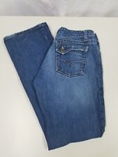 Junior's CRUEL GIRL Jeans Flap Closure Back Pockets Lightly Distressed Sz 1R