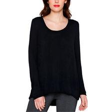NEW Matty M Women's Signature Long Sleeve Tee Knit Top Black Small