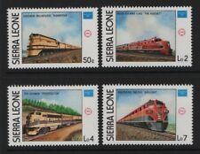 Sierra Leone SG 941-SG 944 Ameripex Railway 1986   Unmounted Mint MNH