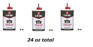 3 IN ONE Multi purpose Oil Long Lasting Lubricant WD40 Precision Drip 8 oz 3pack