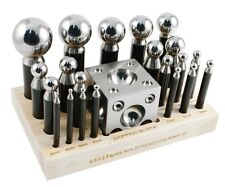 Dapping Set Punches & Block Steel Forming 23pc Large Size 43mm-3mm Metal Work
