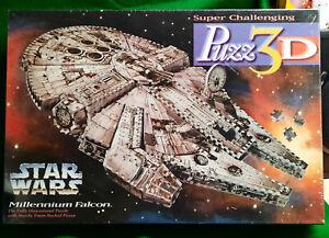 Puzz 3D Millennium Falcon NEW! SEALED! Milton Bradley 1995 Shrink Wrap  Giftable