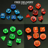 RPG DND Poly Dice Board Game set of 7 sided die Choice of colours UK SELLER New