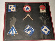 7 Vintage Wwii Army Us Military Uniform Patch Lot
