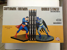 SUPERMAN/BATMAN WORLD'S FINEST BOOKENDS DC DIRECT 478/500 NEW BY RUDE(52 STATUE