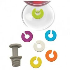 True Fabrications Bottle Stopper & Wine Glass Charms / Drink Markers - 7pc Set